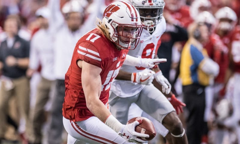 Junior linebacker Andrew Van Ginkel returned an interception for a touchdown and forced and recovered a fumble in Wisconsin's Big Ten Championship loss to Ohio State. He's hoping to improve on his late-season success next season.