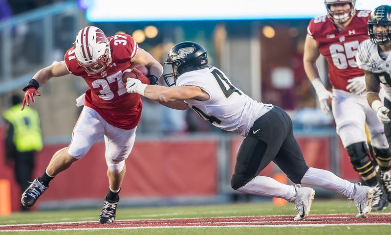 Garrett Groshek looks to give veteran leadership and pass-catching ability to Wisconsin's new three-headed monster at the running back position.