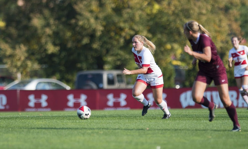 Despite playing substantially fewer minutes than her fellow forwards, senior Emily Borgmann sits second on the team with four goals.