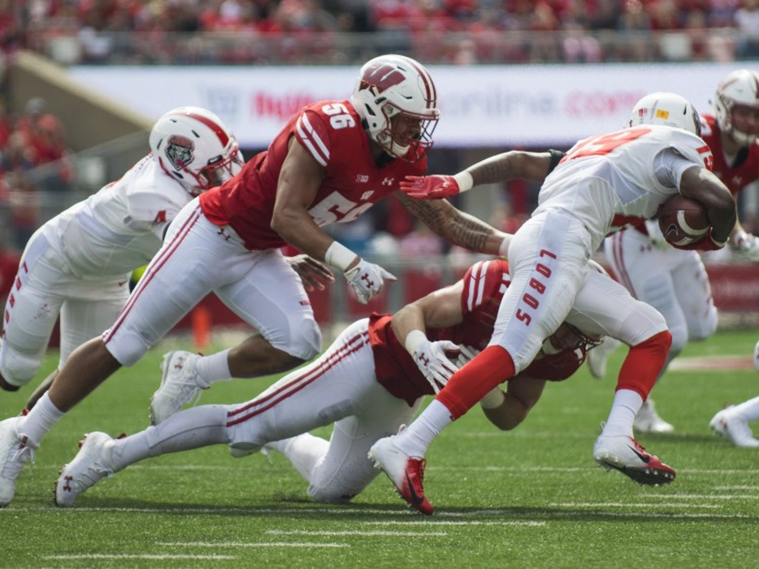 After allowing a touchdown on the opening drive, Wisconsin's defense tightened up and gave up just 45 yards on the next seven drives to give the offense a chance to take over.