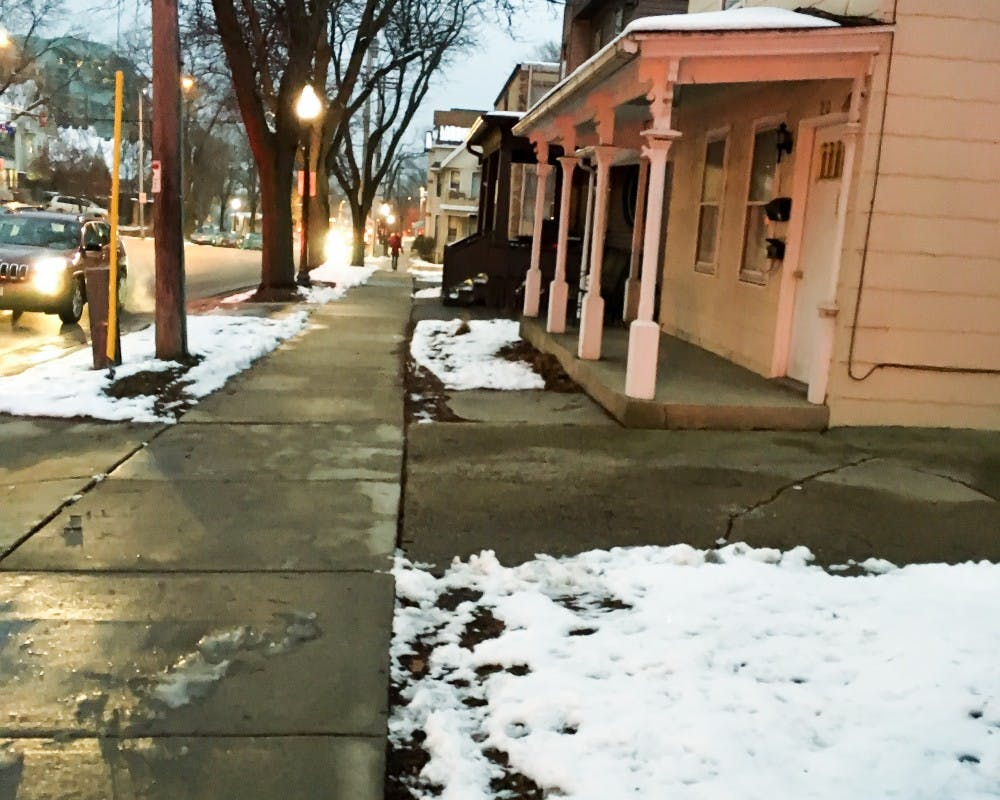 A burglary reportedly occurred on the 100 block of Broom Street Sunday afternoon.