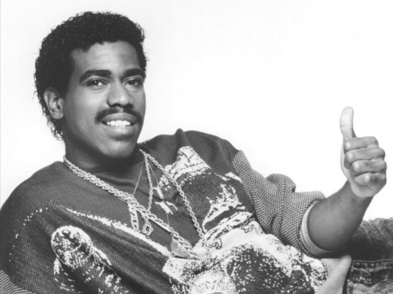 "Kurtis Blow (above) was one of the first commercially successful rappers thanks to hits like ""The Breaks,"" ""Christmas Rappin',"" and of course, ""Basketball."""
