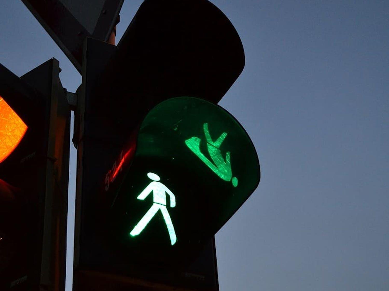 Crosswalk man powerless.