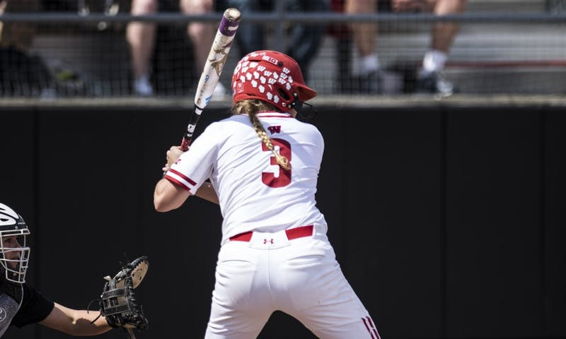 Kelsey Jenkins hit the Badgers' first leadoff home run in three years during Sunday's win over the Boilermakers.