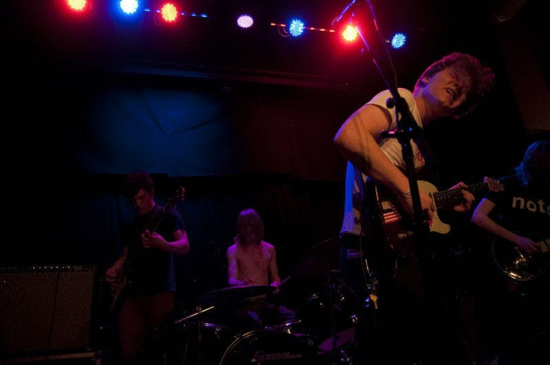 Fire Retarded, Madison's premiere scrappy garage punk band, rocked the High Noon Saloon with their patented rave up.