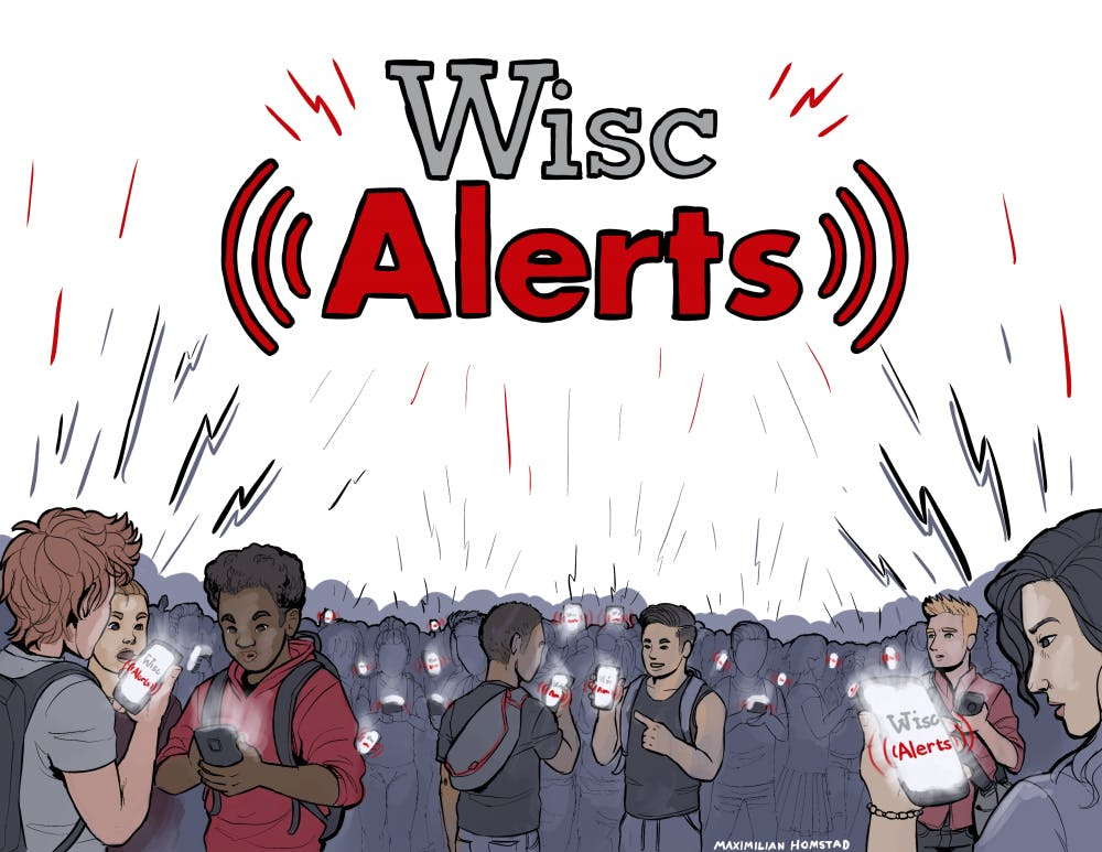 The UW-Madison community is alerted about crimes in the area via messages from the UW-Madison Police Department.