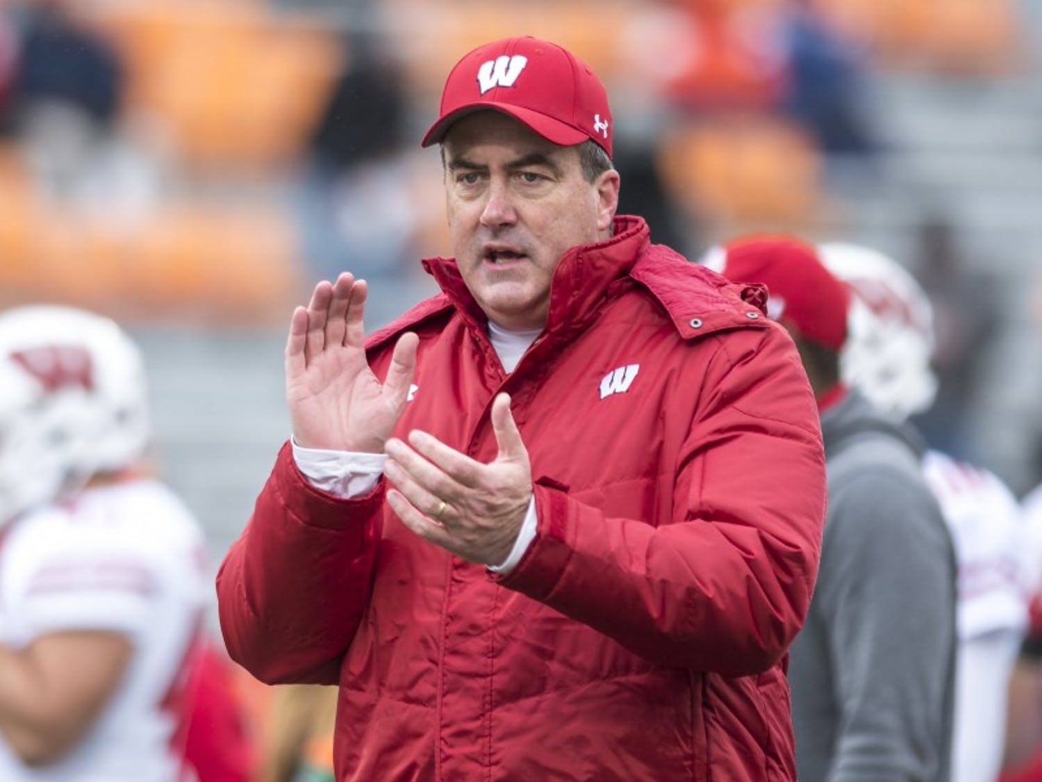 Coach Chryst is one of the twelve members of Wisconsin football to test positive for COVID-19