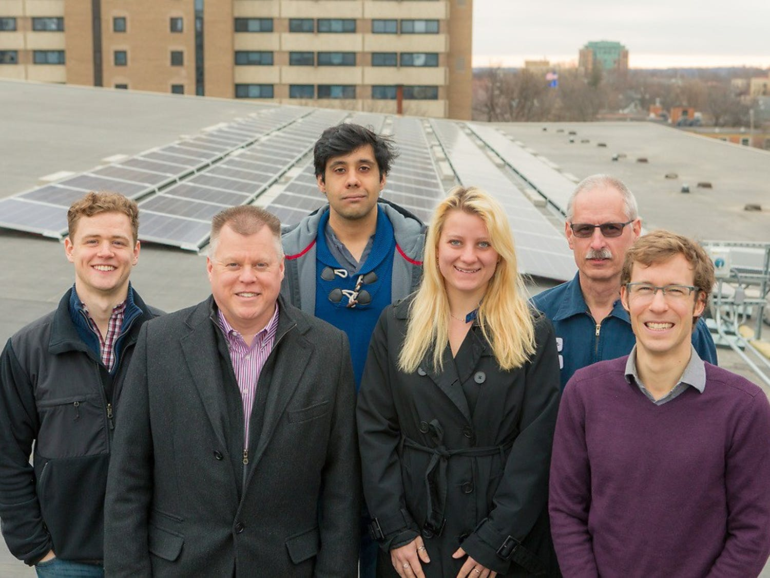 UW-Madison students collaborated with university officials to implement solar panels on the roof of Gordon Dining and Event Center.