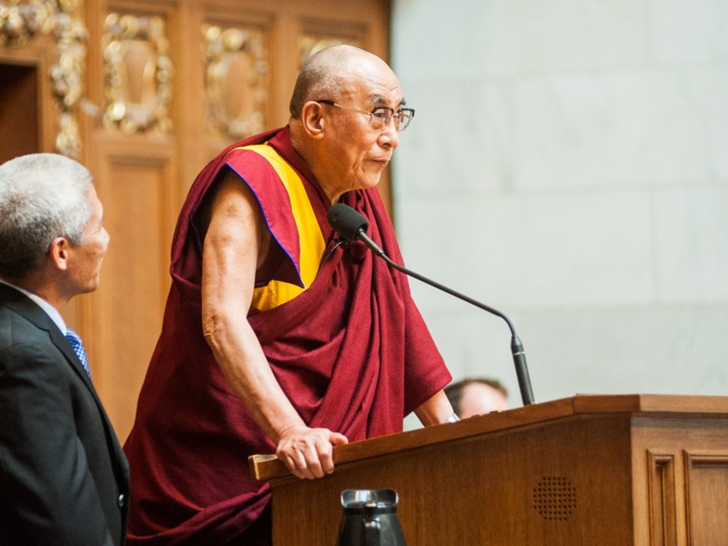 The Dalai Lama has been criticized by the Chinese government and Chinese students in the United States.