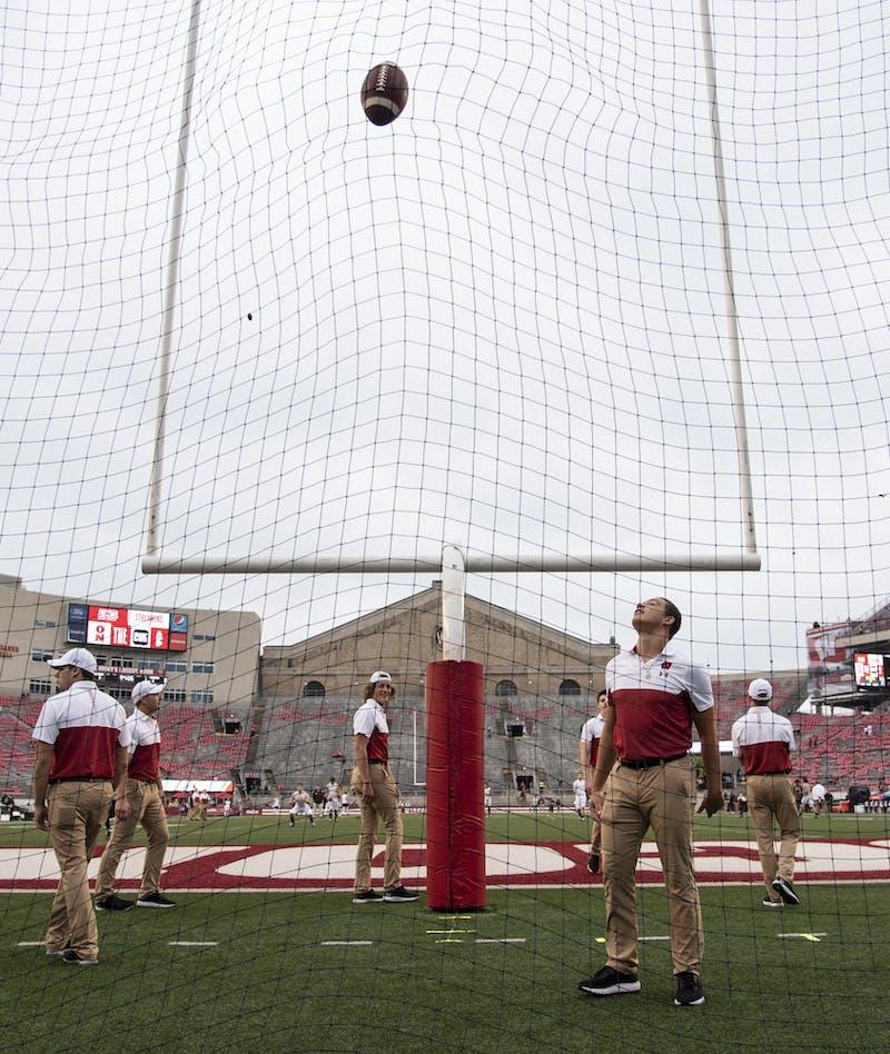 Senior kickoff specialist Zach Hintze broke the school record with a 62-yard field goal Saturday.