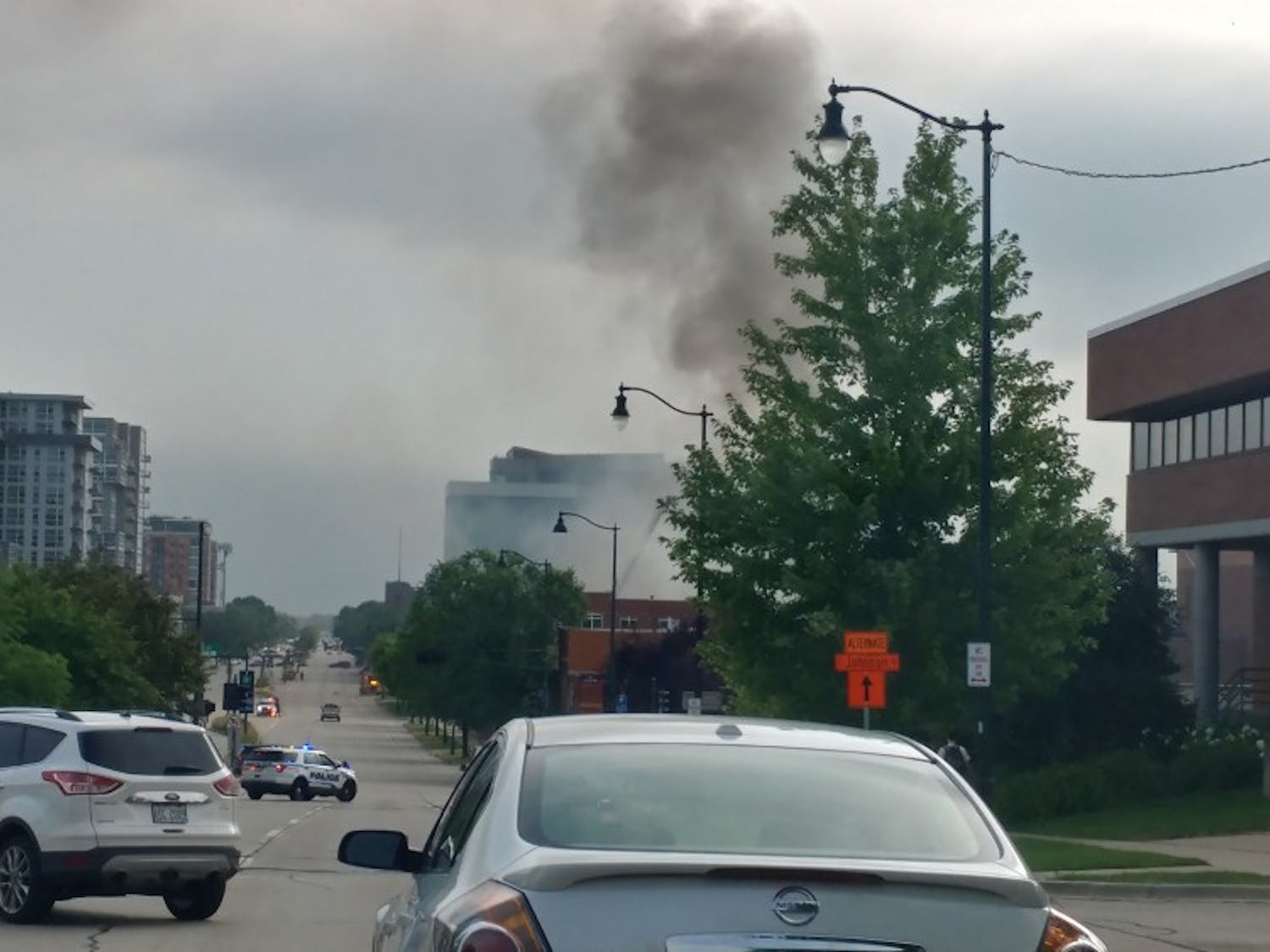 Fires at two MG&E substations resulted in major traffic delays and significant power outages in downtown Madison.
