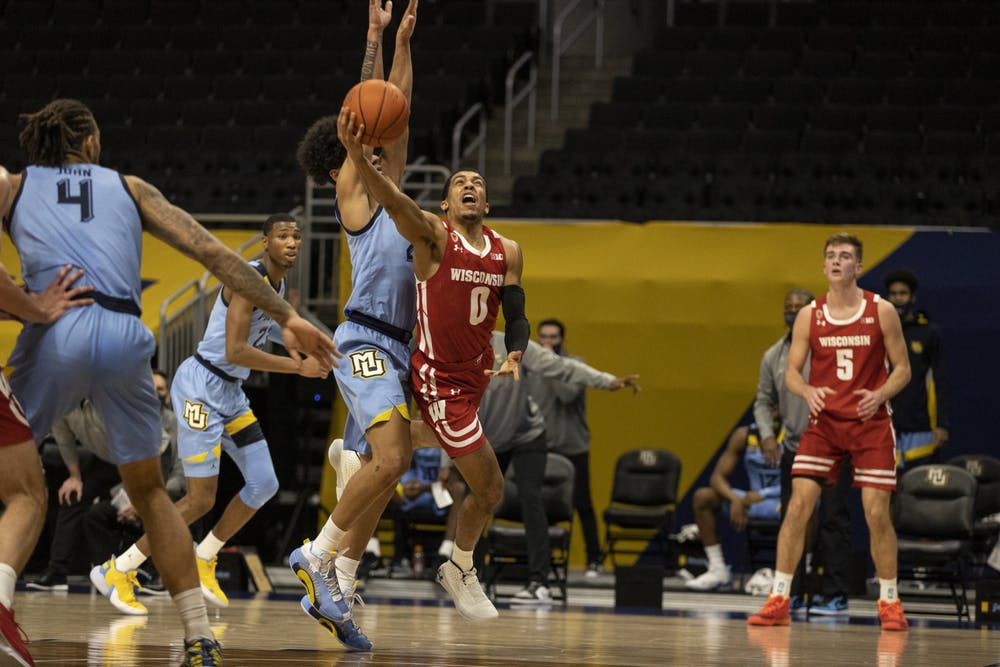 <p>Trice led all Badgers with 17 points in a team-high 31 minutes, but it was not enough to take down the Golden Eagles.</p>
