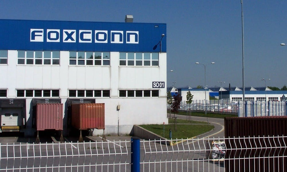 Photo of a Foxconn building.