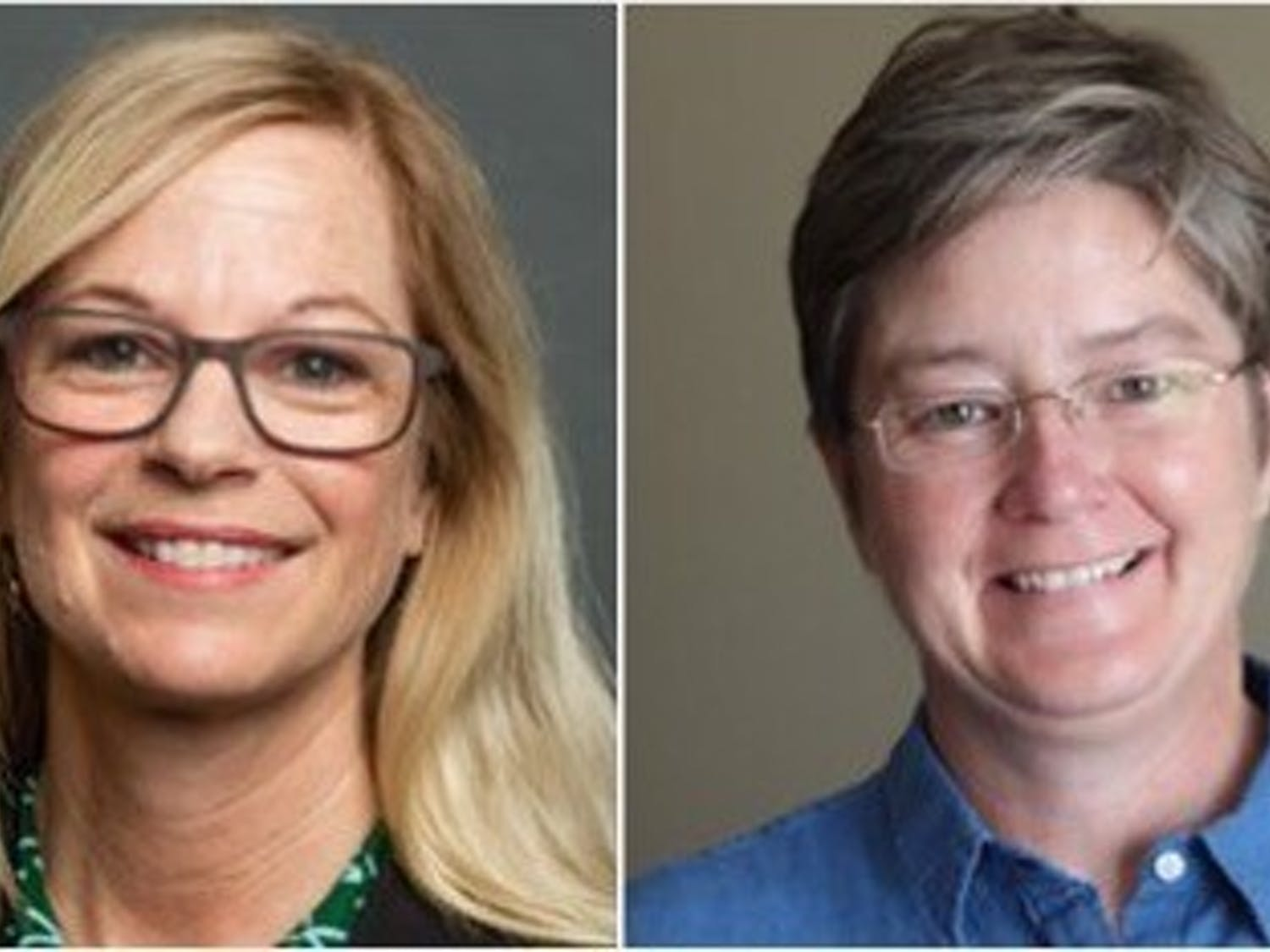 Lisa Parks (left), and Rebecca Sandefur (right) each received a $625,000 grant to further their research goals.