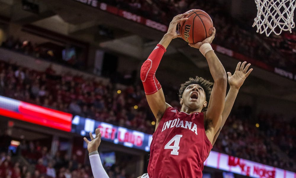 <p>Trayce Jackson-Davis (above) leads the Hoosiers in scoring this season. He changed his number from #4 to #23 this season.</p>