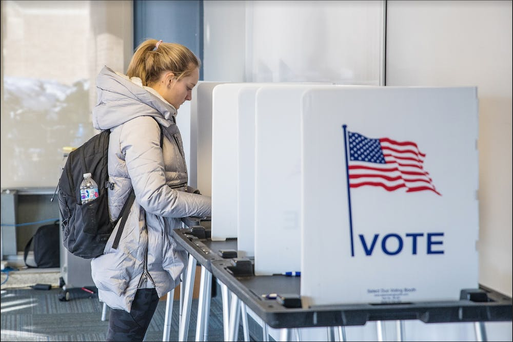 <p>Wisconsinites cast their votes in primary elections for a State Supreme Court seat and in the US District 7.&nbsp;</p>