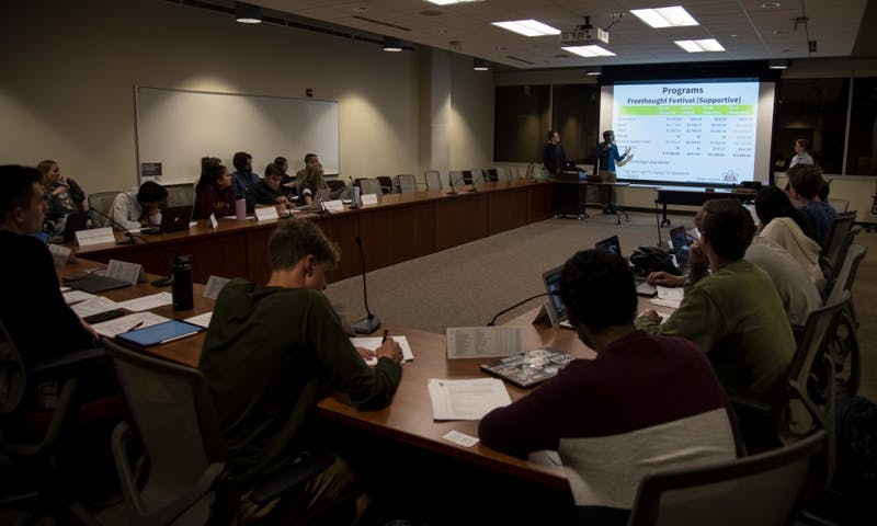 The Student Services Finance Committee raised concerns Monday over budget plans proposed by Atheists, Humanists and Agnostics and listened to an eligibility presentation from Badger Catholic.