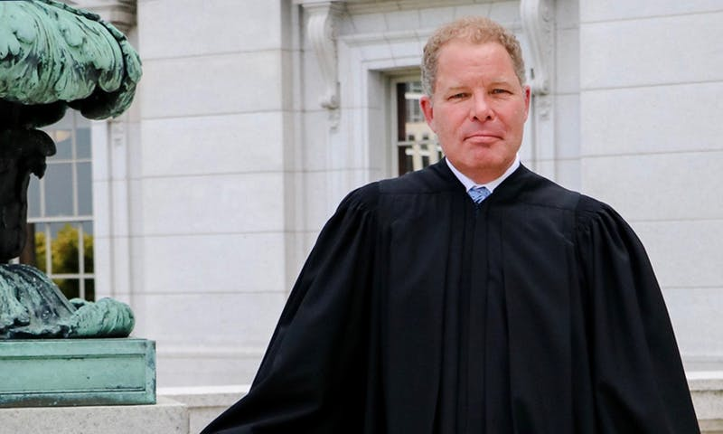 Justice Daniel Kelly — appointed by then-Gov. Scott Walker in 2016 — is one of three candidates contesting tonight's Wisconsin Supreme Court primary election.