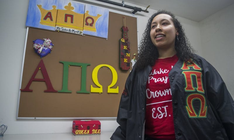 Despite being the smallest sorority at the university, Alpha Pi Omega Vice President Faith Bowman said the organization has a strong sense of community.
