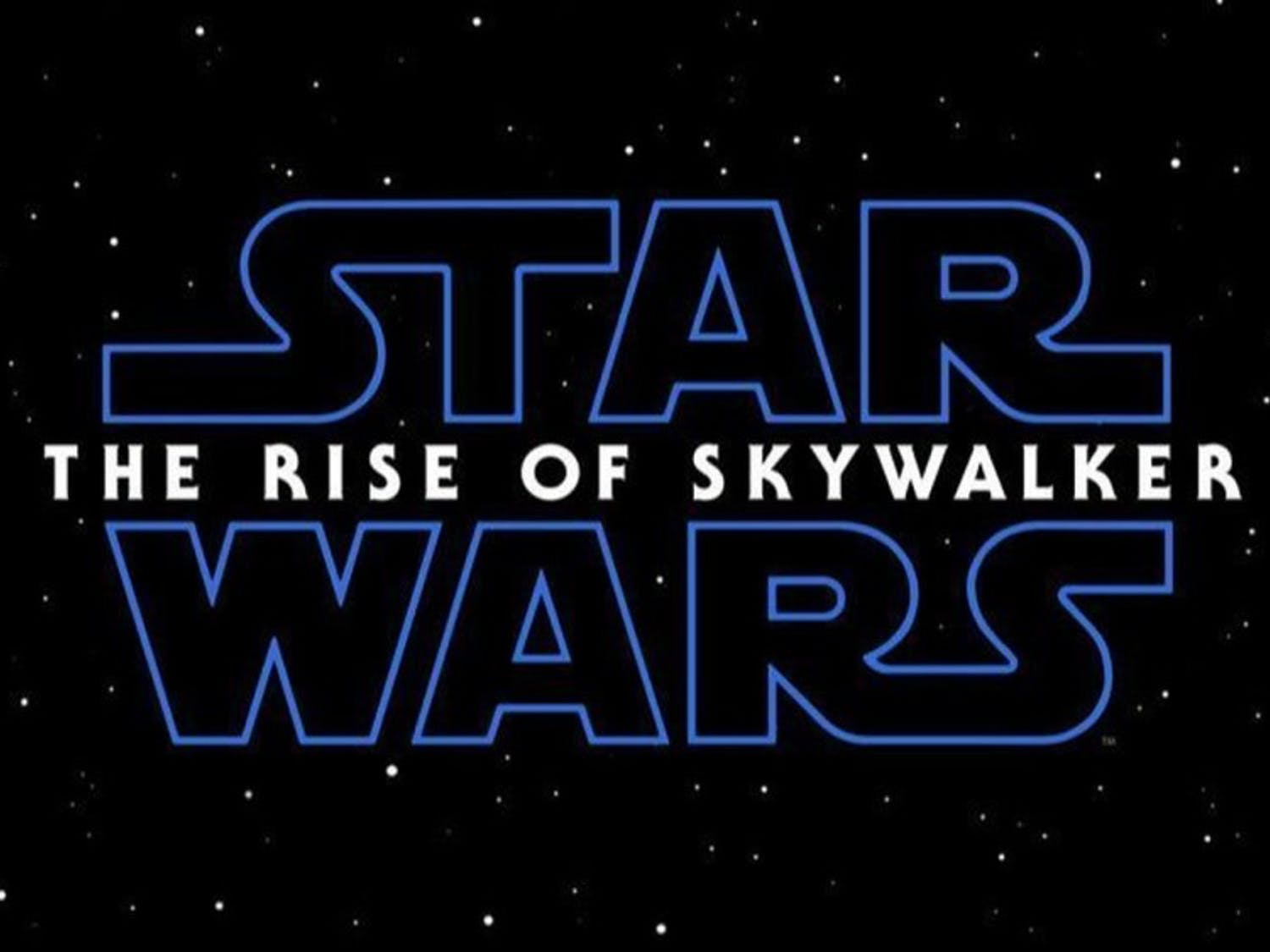 """The title card for """"Star Wars: Episode IX"""" as revealed to a crowd of hundreds gathered to celebrate the cherished franchise in Chicago."""
