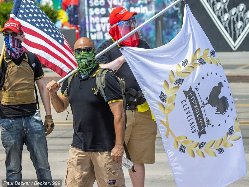 "The looming threat of militias is all the more chilling in light of the President's recent call to the Proud Boys — a national rightwing organization known for violent clashes at protests — to ""stand by."""