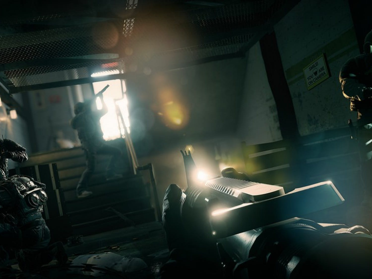 """A screenshot from """"Rainbow Six Siege"""" offers an example of the quality of gameplay one can experience."""