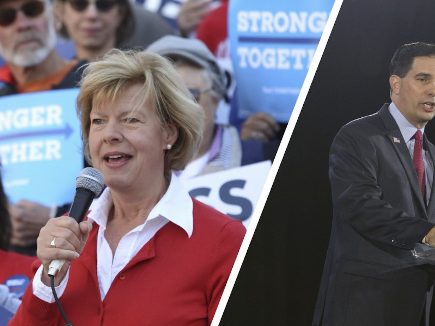 Gov. Scott Walker and Democratic challenger Tony Evers are statistically tied in Marquette's newest gubernatorial poll, while U.S. Sen. Tammy Baldwin, D-Wis., maintains a hefty lead on Republican Leah Vukmir.