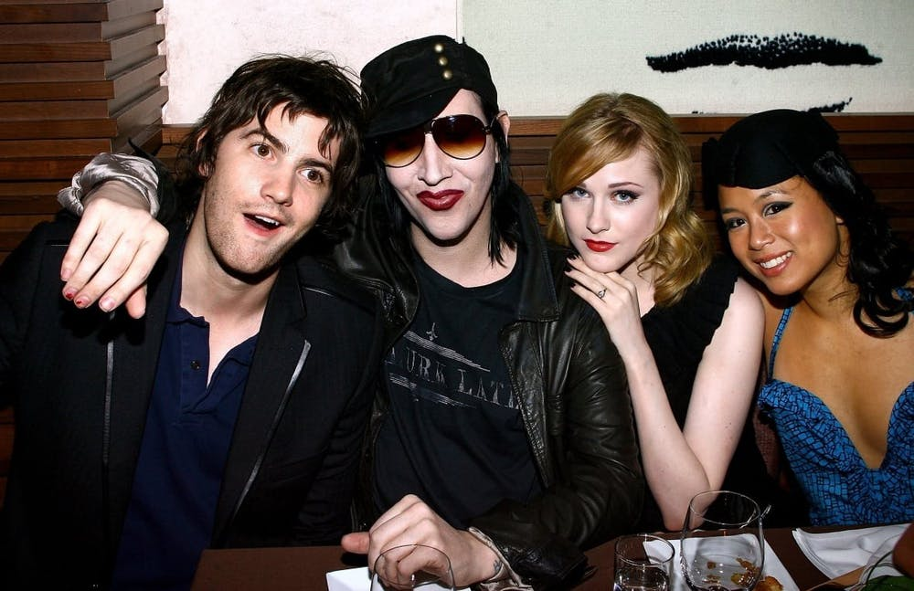 Marilyn Manson and Evan Rachel Wood began dating in 2007 and were briefly engaged in 2010 before breaking up.