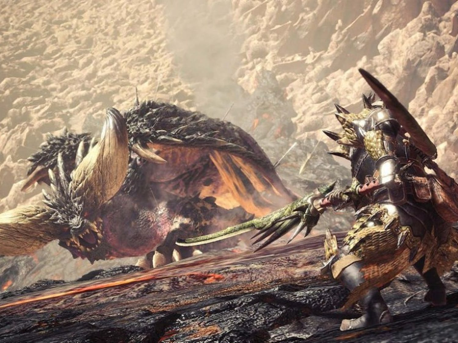 """""""Monster Hunter: World""""is out now for PlayStation 4 and Xbox One."""