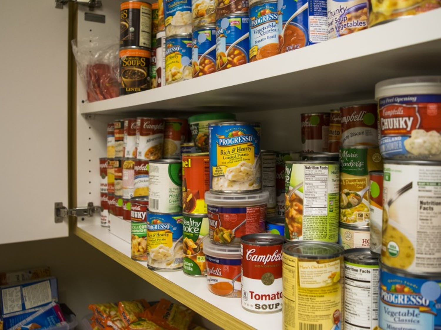 The Open Seat, a campus food pantry created in February 2016, serves students who may be unsure of where their next meal is coming from.