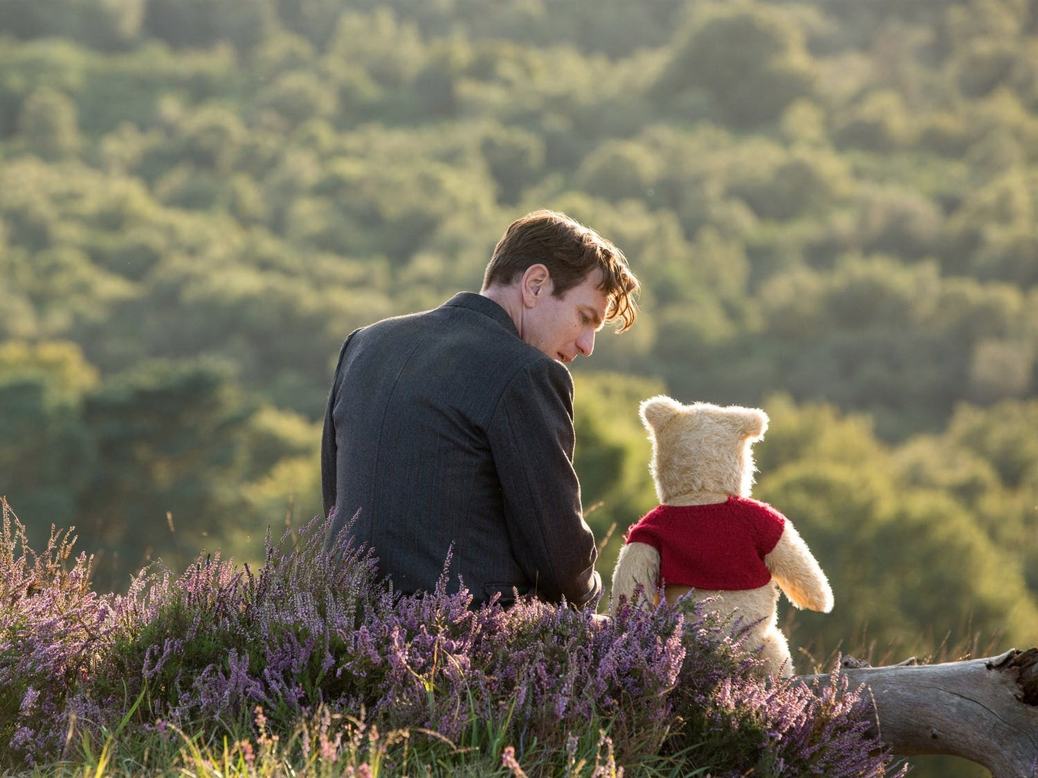 "In ""Christopher Robin,"" Ewan McGregor stars as Pooh Bear's best friend who revists his happy childhood amid his struggles with adulthood and a life with less fantasy."