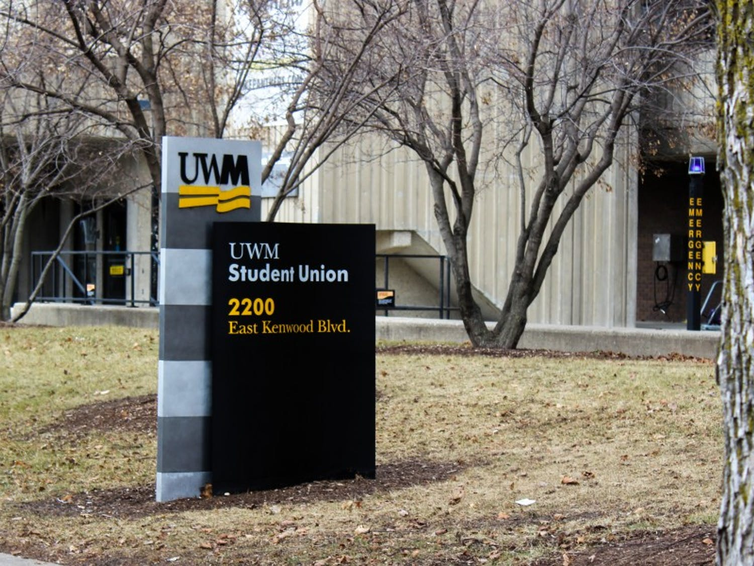 A man was shot after police discovered him sleeping at the UW-Milwaukee Fine Arts complex.