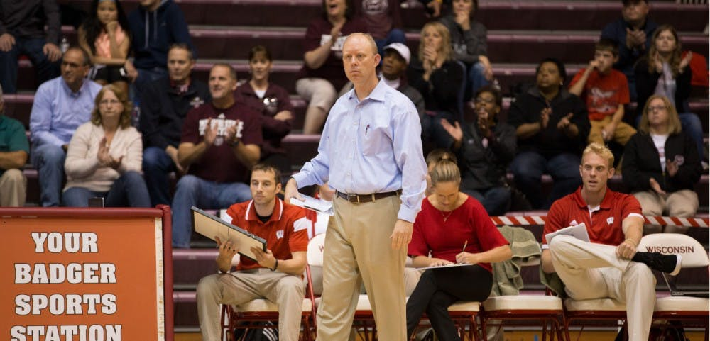 <p>Kelly Sheffield spoke Monday about the difficulty of the Big Ten schedule.&nbsp;&nbsp;</p>