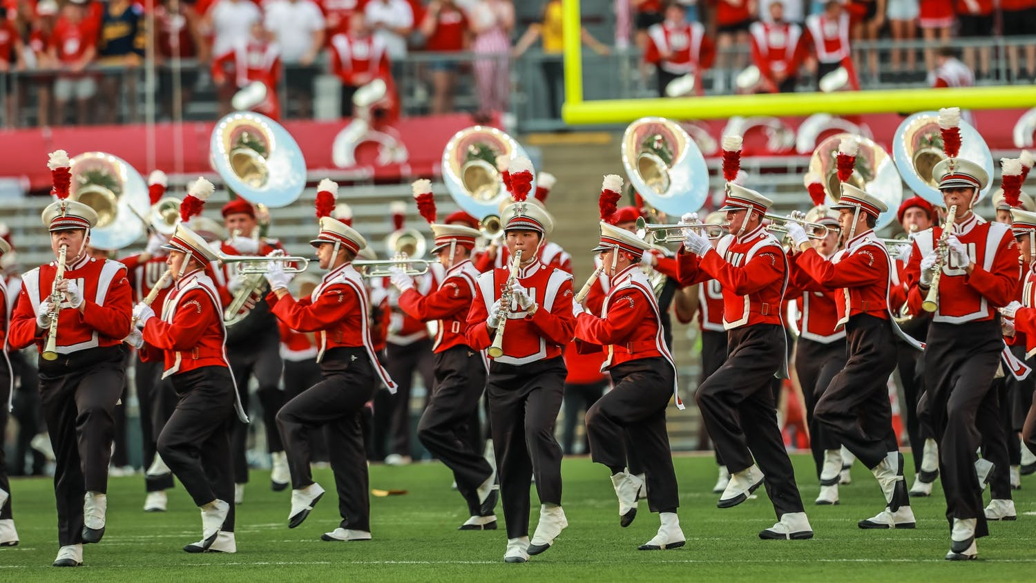 Photo of the UW Marching Band.
