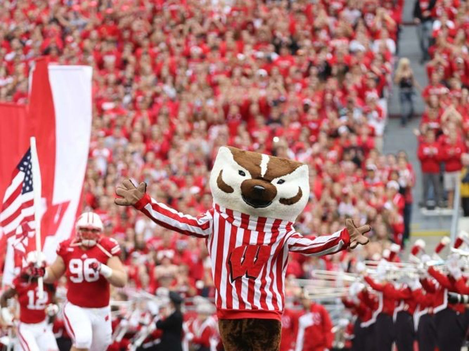 The Wisconsin Badgers defeated Purdue 41-10.
