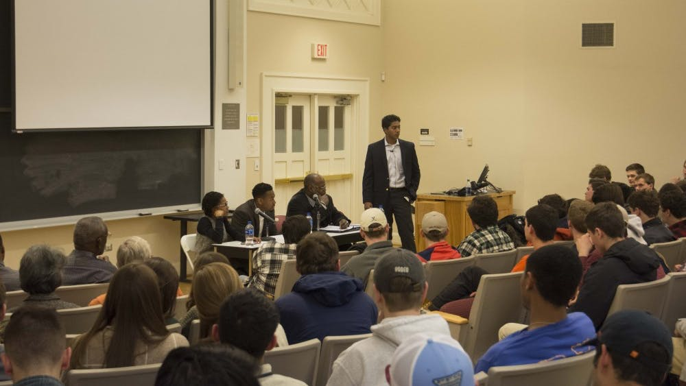Tuesday night's panel was among a series of events being hosted by the history department in response to the white nationalist events of August.