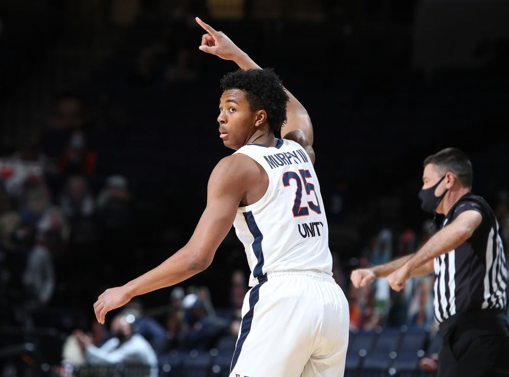 <p>Junior guard Trey Murphy posted an impressive 17 points and six rebounds in Saturday's bout against Louisville.</p>