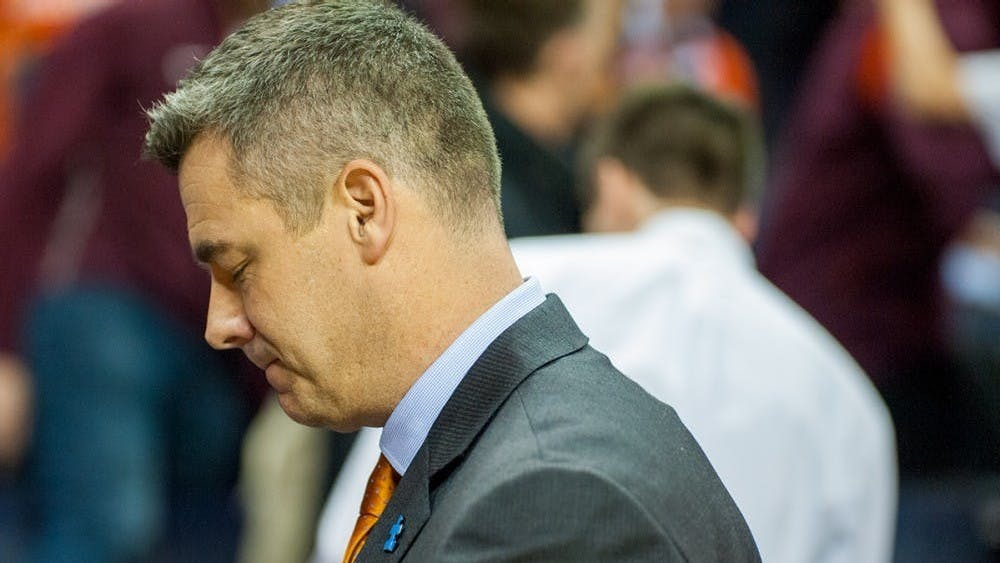 Coach Tony Bennett is pictured after No. 1 seed Virginia's historic loss to UMBC.