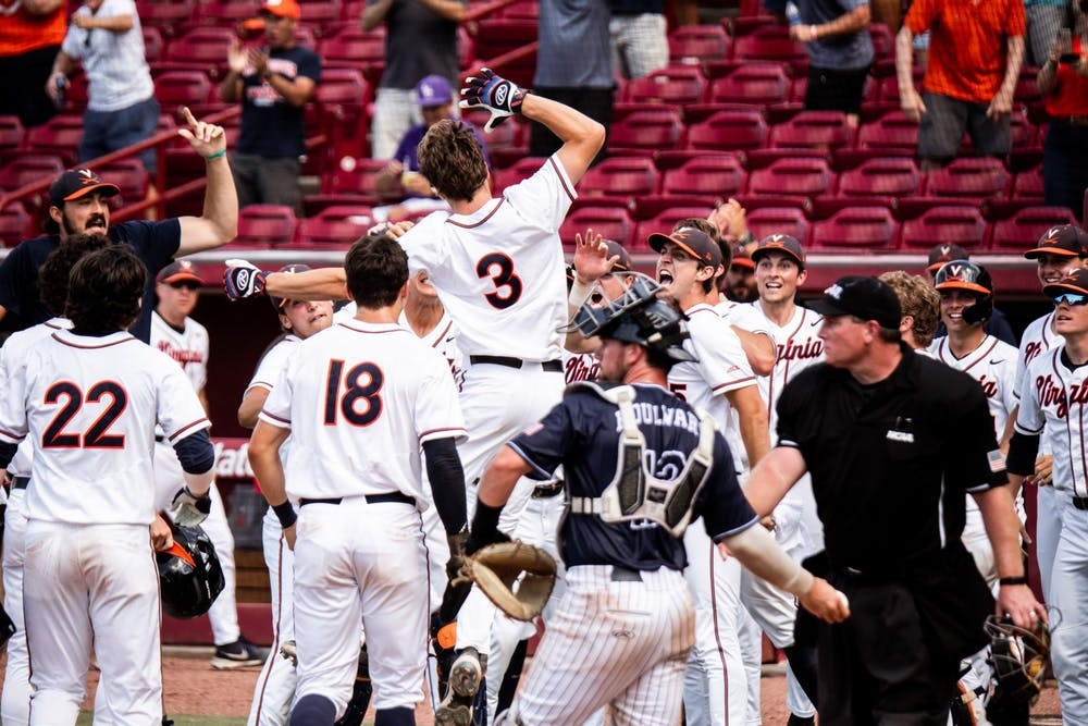 <p>Teel's grand slam in the seventh inning propelled the Cavaliers ahead on the board in the third game of the NCAA Tournament Super Regionals.&nbsp;</p>