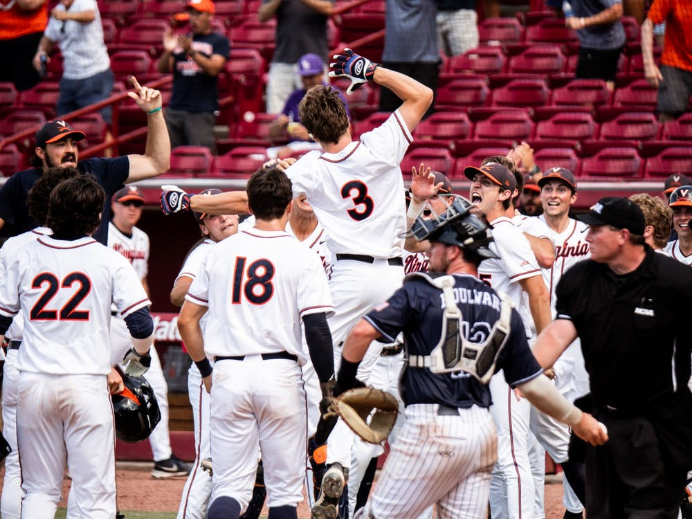 Teel's grand slam in the seventh inning propelled the Cavaliers ahead on the board in the third game of the NCAA Tournament Super Regionals.
