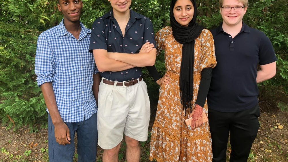 From left to right, Ian Allum, Austin Houck, Qudsia Saeed and Josh Harris currently make up Homoglobin's team.
