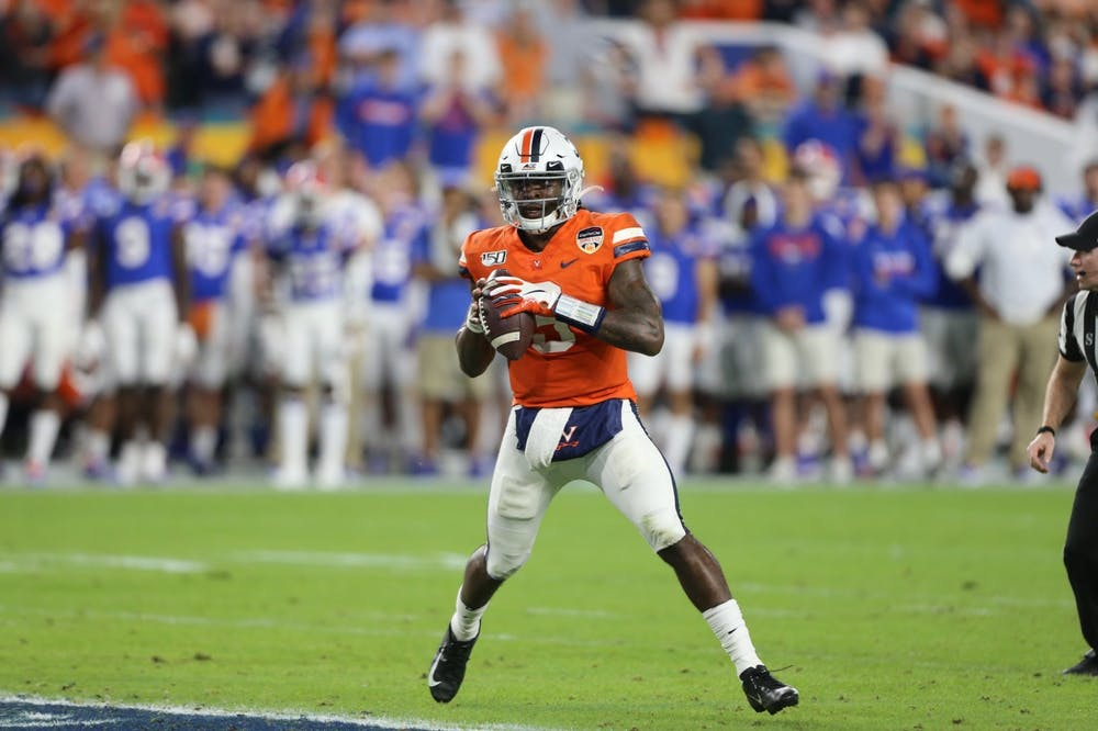 <p>Bryce Perkins threw for 323 yards and four touchdowns in the final game of his college football career.</p>