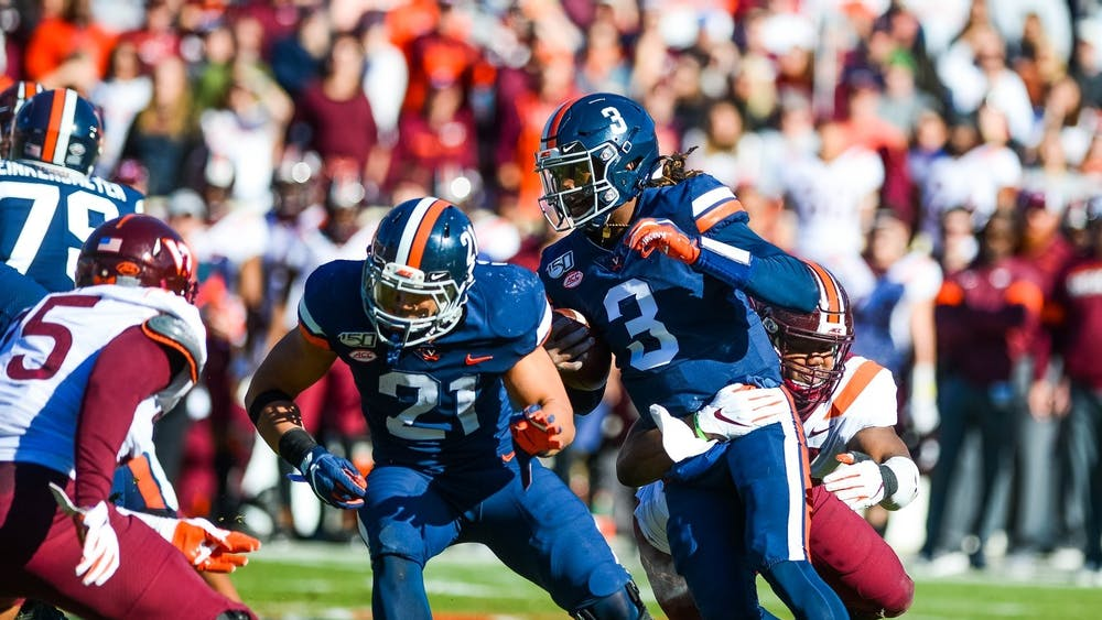 Quarterback Bryce Perkins played an immense role in Virginia's first win over rival Virginia Tech in 15 years.