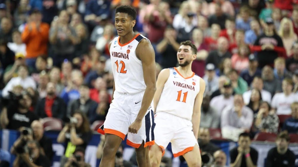 Junior guard De'Andre Hunter led Virginia with 23 points in their victory over Gardner-Webb.