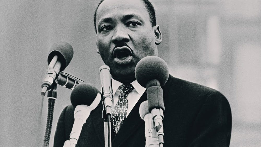 Martin Luther King Jr. speaks at the 1963 March on Washington for Jobs and Freedom.