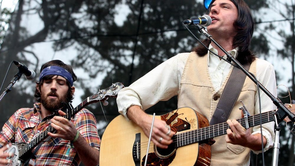 The Avett Brothers performing in 2009.