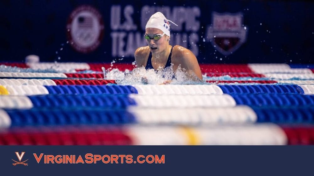 Virginia freshman Alex Walsh was one of four Cavaliers to qualify for the United States Olympic Swimming team, as she won the 200-meter individual medley.