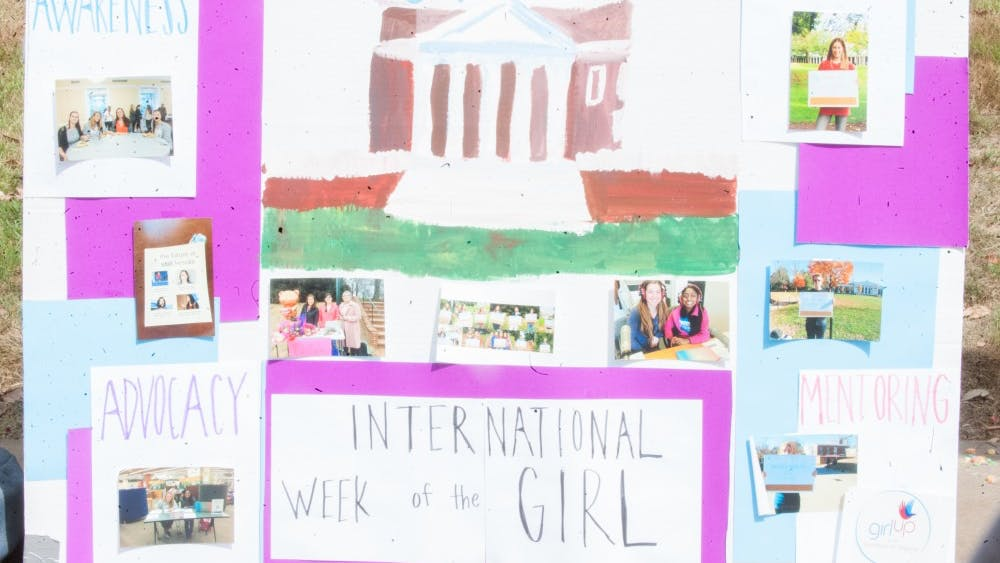 """This poster displays the goals of """"International Week of the Girl."""""""