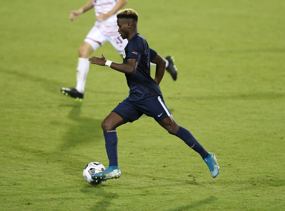 <p>Senior forward Irakoze Donasiyano had his first career penalty-kick attempt saved in the 60th minute.&nbsp;</p>