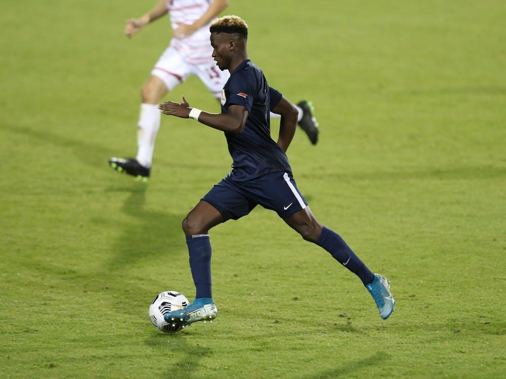 Senior forward Irakoze Donasiyano had his first career penalty-kick attempt saved in the 60th minute.